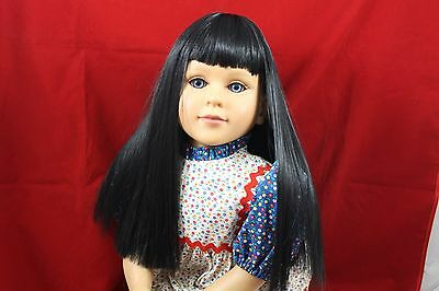 Going Out Of Business Sale----- Black Wig Modeled On A My Twinn Doll Bsw753