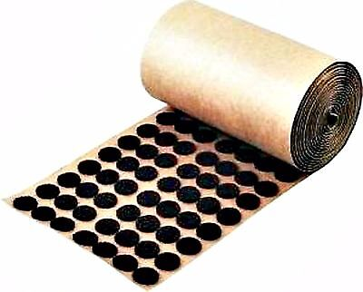 """Adhesive Back Felt Buttons 1,000 Brown Dots Pads 1/2"""" Furniture Protection USA"""
