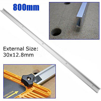 "800mm/31.5"" Alloy T-slot T-tracks Miter Track Jig Fixture Slot For Router Table"