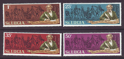 St Lucia 1970 SC 278-281 MNH Set Charles Dickens