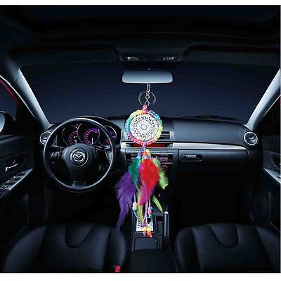 30CM Traditional Dream Catcher with Colorful Feathers Wall Car Hanging Ornament