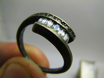 Very Nice  Vintage Sterling Silver  Ring With Stone  #5599