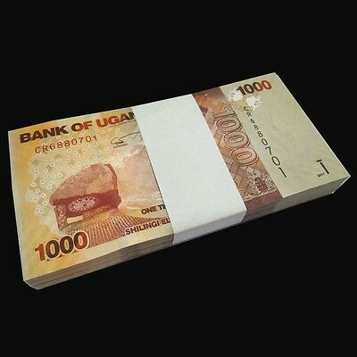 Full bundle Lot 100 PCS, Uganda 1000 (1,000) Shillings, 2017, P-49e New, UNC