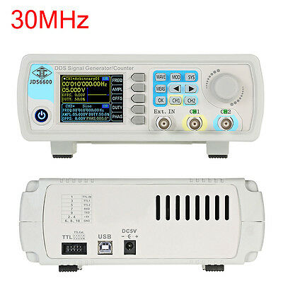 30MHz Dual-channel DDS Arbitrary Waveform Function Digital Signal Generator Kit