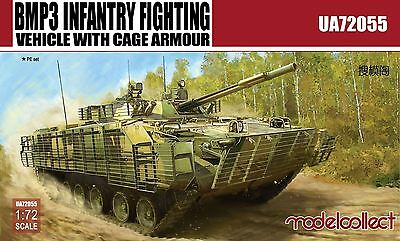 MODELCOLLECT UA72055 BMP3 Infantry Fighting Vehicle w/Cage Armour in 1:72