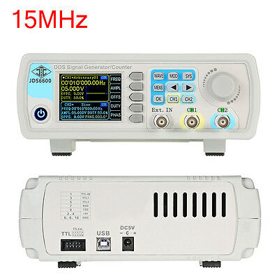 "2.4"" TFT 15MHz Dual-channel DDS Arbitrary Waveform Function LCD Signal Generator"