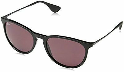 NEW Ray-Ban Women's Erika Sunglasses - Black Frame / Violet Lens - 54mm