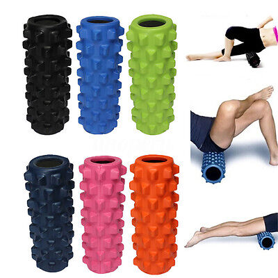 Fit Yoga Foam Roller Exercise Trigger Point Gym Textured Physio Massage EVA Grid
