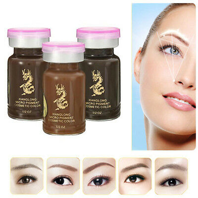 Permanent Eyebrow Tattoo Pigment 3D Micropigmentation Brows Ink Emulsions Hot