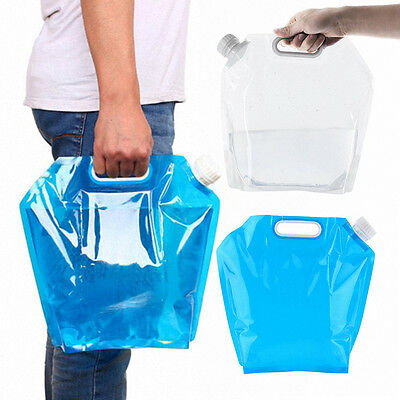 5L Folding Drinking Water Container Storage Lifting Bag Camping Picnic BBQ Grill