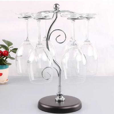 Elegant Table Wine Cups Storage Shelf Glass Holder Rack Anti Rust and Corrosion