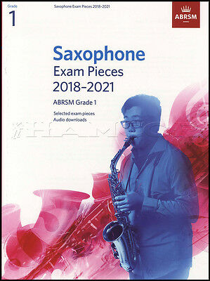 Saxophone Exam Pieces 2018-2021 ABRSM Grade 1 Sheet Music Book with Audio