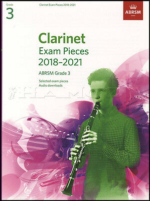 Clarinet Exam Pieces 2018-2021 ABRSM Grade 3 Sheet Music Book with Audio