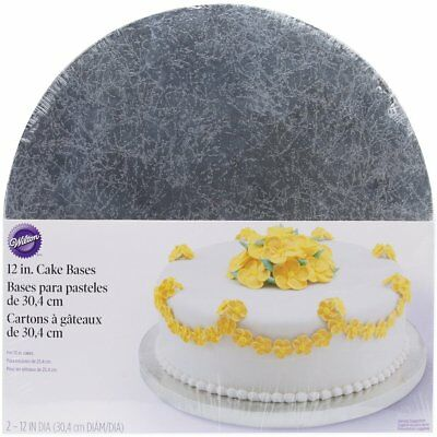 Wilton 12 Inches Cakes Strong Bases Holders Party Celebration Decorating 2 Pack