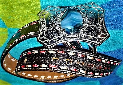 Justin Top Grain Cowhide Belt With Fancy Buckle From Gold Seal Company Medora