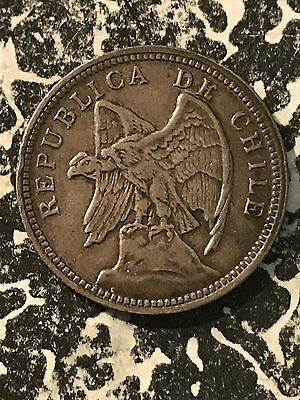 1932 Chile 1 Peso Lot#5688 Silver!
