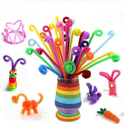 DIY Puzzle Building Blocks Baby Kids Educational Toys Iron Wire + Fluff 100Pcs