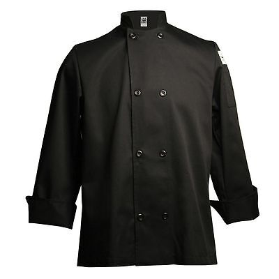 Chef Revival J061BK-XL Black X-Large Long Sleeve Crew Jacket
