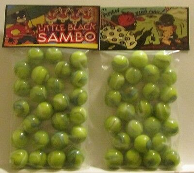 2 Bags Of Pic Freeze Black Americana Promo Marbles