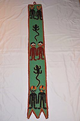 Yoruba Beaded Twins Ancestors Diviner Panel Beadwork Wall Hanging Nigeria Africa