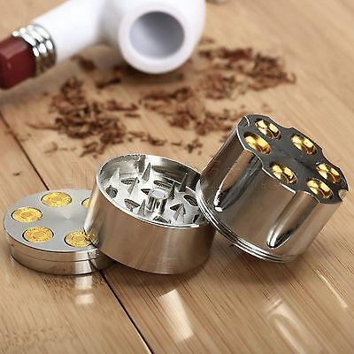 Metal Alloy Smoke Herbal Herb Crusher Cigar Tobacco Spice Grinder 3 Layers MINI