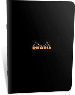 Rhodia Pocket Notebook 3 x 4-3/4, Graph Ruling, Black Cover