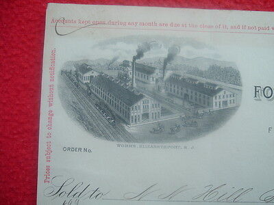 1897 PICTURE of town of Elizabethport,New Jersey/Wooden Pulley Maker/letterhead!