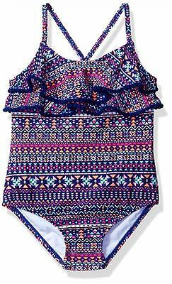 Carter's Girls One Piece Ruffle Top Swimsuit Size 2T 3T 4T 4 5/6 6X