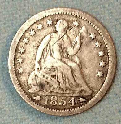 1854 o Seated Half Dime Nice Better Date FREE SHIPPING
