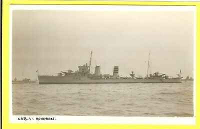 1931-40 British Destroyer H45 HMS Acheron  Vintage Photo