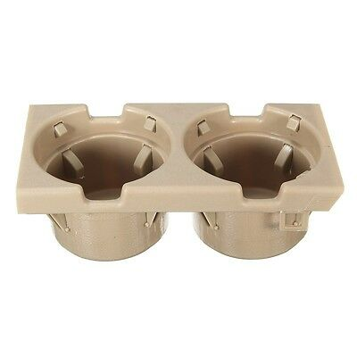 Beige Front Console Dual Cup Holder For BMW 3 Series E46 1998-2006 # 51168217953