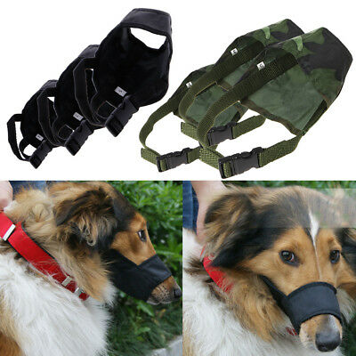 Dog Puppy Pet Adjustable Mask Bark Bite Mouth Muzzle Grooming Anti Stop Chewing