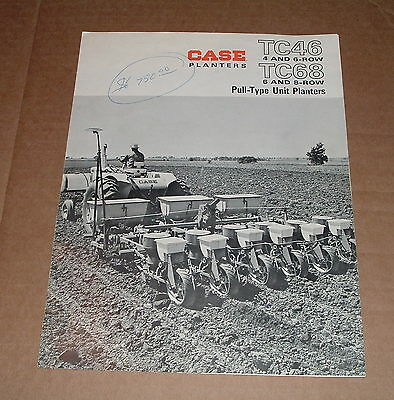 Original Old Case TC46, TC68 Planters Advertising Brochure