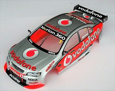 1:10 RC Clear Lexan Body Holden Commodore Vodafone 200mm Nitro or Electric