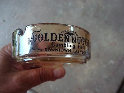 Vintage Golden Nugget Gambling Casino Ashtray-Downtown Las Vegas, NV