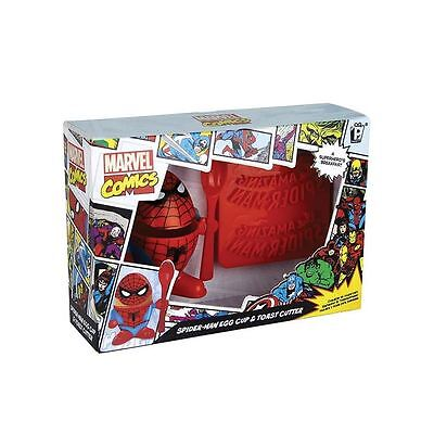 Spiderman Egg Cup Topper & Toast Stamp Cutter Spoon Breakfast Set