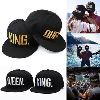 Lovers KING And QUEEN Adjustable Letter Baseball Cap Hip Hop Snapback Hats