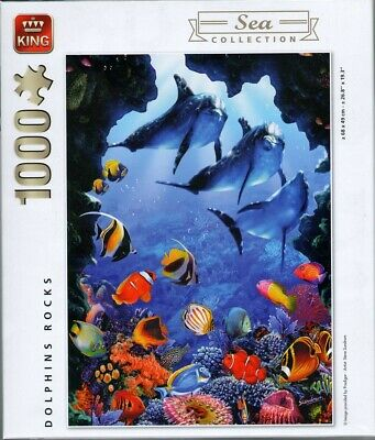 1000 Piece Sea Collection Jigsaw Puzzle - DOLPHINS ROCK 05667