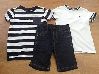 100% Next Boys Small Summer Bundle / Outfit 5Yrs Tops Shorts