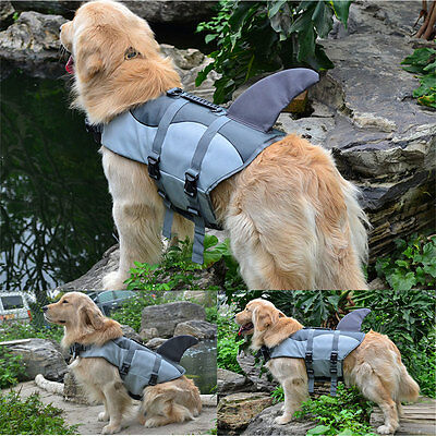 Float Pet Life Jacket Dog Lifesaver Safety Shark Safe Vest Swimming Training
