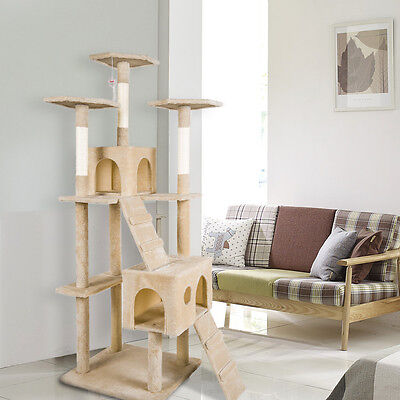 Merax Cat Tree Tower Condo Furniture Scratching Post Kitty Pet Play House Bed