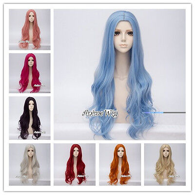 Anime Lolita 80CM Long Wavy Women Basic Party Cosplay Wig Heat Resistant+Wig Cap