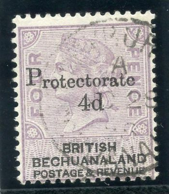Bechuanaland 1888 QV 4d on 4d lilac & black very fine used. SG 44. Sc 64.