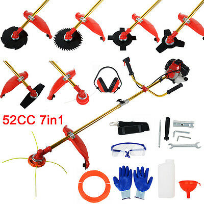 52cc Brushcutter Whipper Snipper Trimmer Edger Brush Cutter Multi Tool Garden