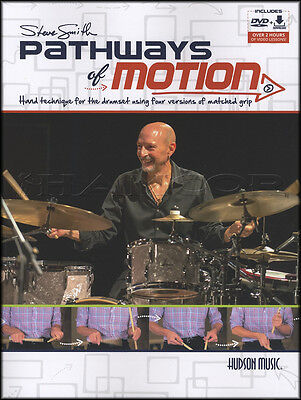 Steve Smith Pathways of Motion Drums Drumset Music Book with DVD