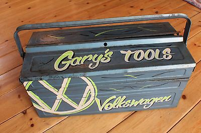 """Volkswagen Custom Hand painted VW Rusty Tool Box """"Tell me the name you want"""""""