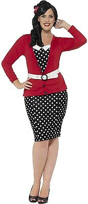 LADIES CURVY 1950S Vintage Pin Up Fancy Dress Costume Outfit ...