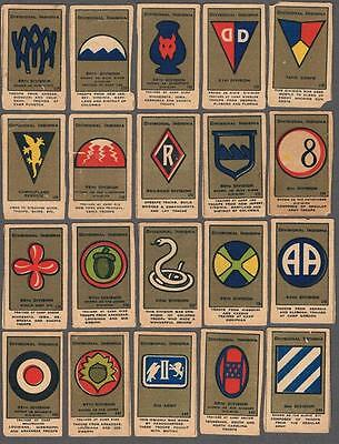 1920's Divisional Insignia Tobacco Cards Lot of 57