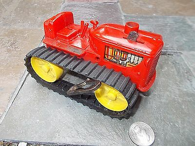 1950's MARX WIND UP hard plastic/ tin litho  TOY TRACTOR