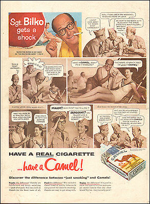 1956 Vintage ad  Camel Cigarettes with Sgt. Bilko Actor Phil Silvers` (051417)